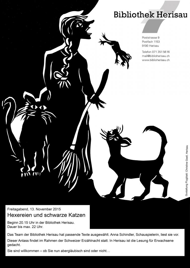 Freitag, der Dreizehnte: Hexereien und schwarze Katzen, Bibliothek Herisau}