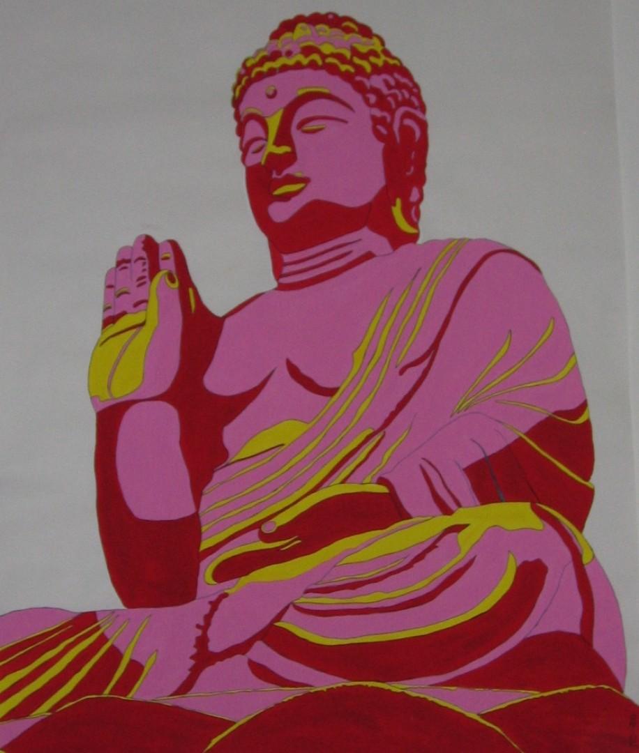 Buddha wechselt seine Seite}